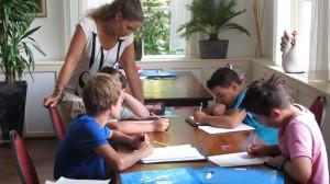 Aan het werk tijdens Zomerschool Apeldoorn