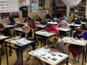 CITO eindtoets bij openbare basisschool Berg en Bos
